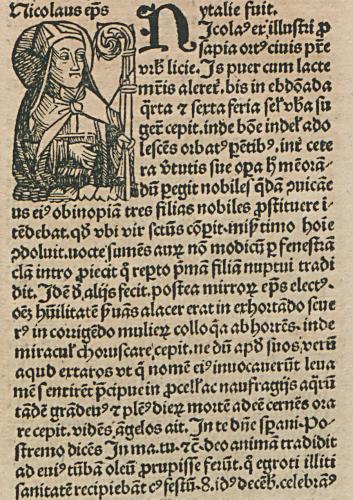 Bischof Nikolaus mit Text