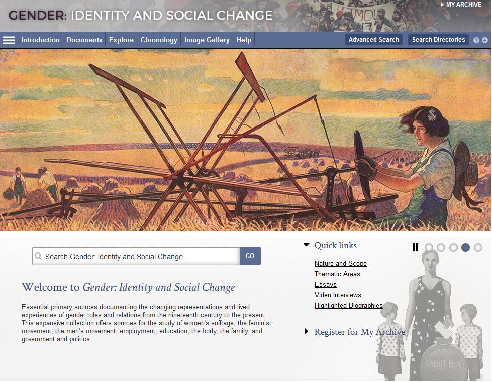 Datenbank Gender, Nutzeroberfläche